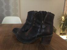 Boots cuir noir