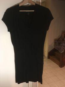 Robe noire avec drapé MANGO