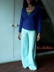 Pantalon bleu lagon pattes d'eph'
