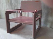 siège pour poupée en bois