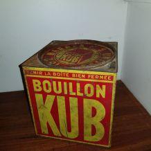 Boite ancienne métal bouillon Kub grand modèle
