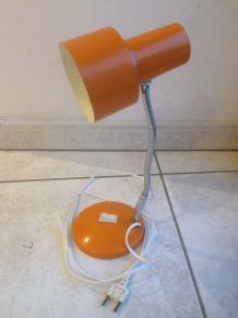 Lampe de bureau orange