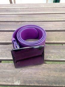 Ceinture vernie femme violette