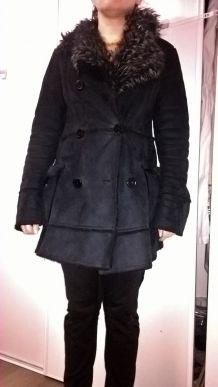 Manteau d'hiver noir taille 38