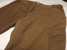 Pantacourt en velours marron