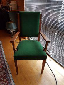 Chaises fauteuils velour