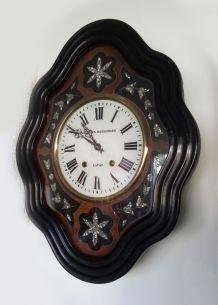 """Ancienne horloge """"oeil de boeuf"""" Napoléon III"""