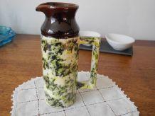 Ancien pot à Lait céramique de Beauce Poterie fait main Canada