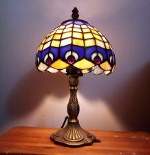 Lampe d'appoint en pâte de verre