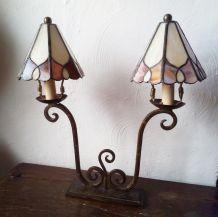 Lampe deux feux Tiffany