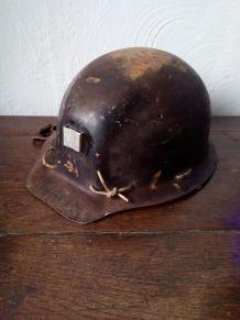 Ancien casque de mineur Alsthon-Textolite
