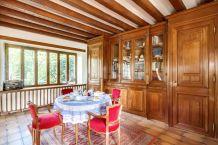 Grande bibliothèque de château style Louis XVIII