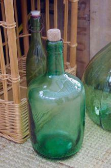 Bonbonne ancienne verre vert AYELENSE