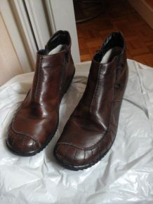 Bottines Riecker marron foncé