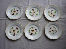 6 assiettes dessert Digoin Sarreguemines