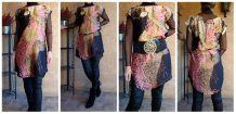 Robe / Tunique Imprimée Aspect Satiné