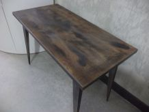 Petite table basse de salon vintage industriel