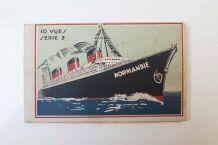 carnet cartes postales Le Normandie