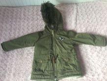 Manteau hiver kaki 2-3 ans