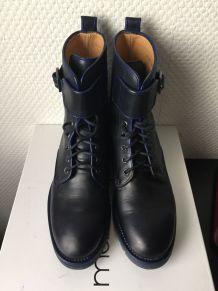Bottines référence Aimy en cuir coloris bleu marine