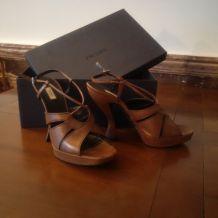 Sandales à talon Prada