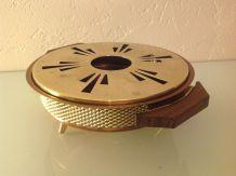 Dessous de plat rond en cuivre / vintage style scandinave cuivre et bois