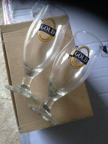 Verres à bière Gold