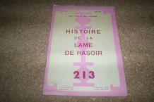 ouvrage 16 pages sur histoire des lames de rasoir