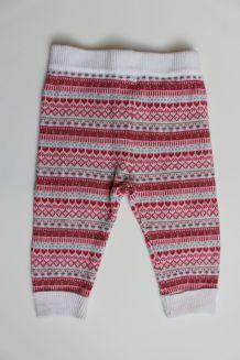 Pantalon chaud jacquard rose 6 mois