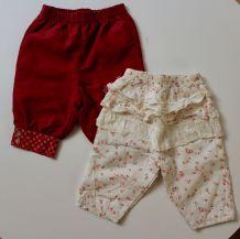Lot de deux pantalons fille Sergent Major 3 mois
