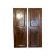 """2 portes d'armoire en noyer de 1850, série """"Louise"""""""