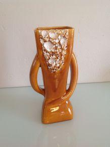 Vase à deux anses vintage céramique Vallauris