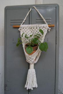 Porte  plante macramé