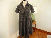 Ravissante robe d'été Tissu Liberty Coton Vintage 70'S - Fabriquée en France Bohême chic