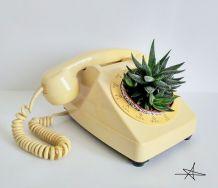 Cache pot - Téléphone Beige 1986