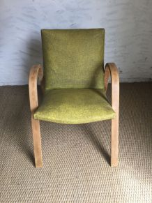 Fauteuil Bow Wood vintage