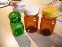 bocaux marrons vintage