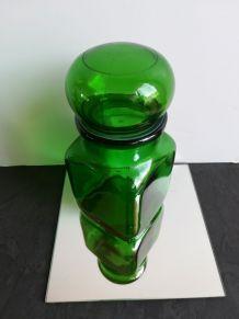 pot en verre vert ariel