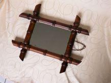 Ancien miroir bambou