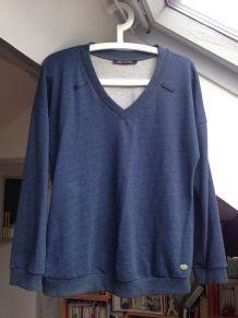 Sweat-shirt Fornarina bleu taille 38