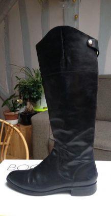 Bottes Bocage en cuir noir 39,5