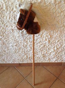 Tête de cheval vintage avec manche à chevaucher