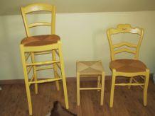 2 chaises+TABOURET
