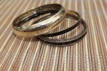 lot bracelets effet argente fantaisie vintage hippie/ethnique/chic