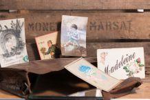 Lot de 5 cartes postales fantaisie anciennes