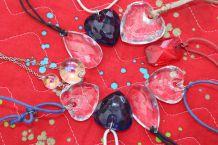 lot colliers diamant cœur bulle fantaisie