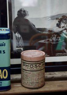 Boite métal Phoscao rose années 30/40