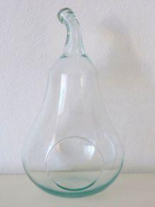 Poire Terrarium déco en verre recyclé