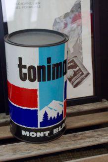 Grande boite métal Tonimalt Mont Blanc 1954