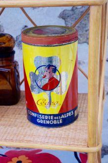 Boite métal ancienne rare Confiserie de Grenoble Cédéa